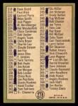 1967 Topps #278   -  Jim Kaat Checklist 4 Back Thumbnail