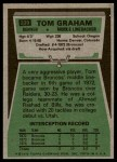 1975 Topps #239  Tom Graham  Back Thumbnail
