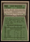 1975 Topps #284  Coy Bacon  Back Thumbnail
