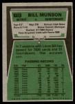 1975 Topps #172  Bill Munson  Back Thumbnail