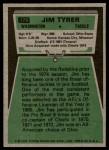 1975 Topps #179  Jim Tyrer  Back Thumbnail