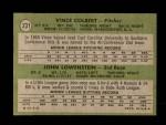 1971 Topps #231   -  Vince Colbert / John Lowenstein Indians Rookies Back Thumbnail