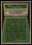 1975 Topps #256  Terry Owens  Back Thumbnail