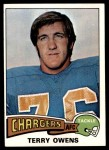 1975 Topps #256  Terry Owens  Front Thumbnail