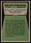 1975 Topps #263  Ron Yankowski  Back Thumbnail