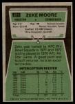 1975 Topps #271  Zeke Moore  Back Thumbnail