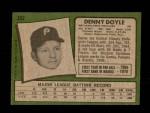 1971 Topps #352  Denny Doyle  Back Thumbnail