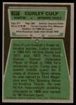 1975 Topps #297  Curley Culp  Back Thumbnail