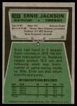 1975 Topps #323  Ernie Jackson  Back Thumbnail