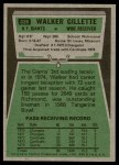 1975 Topps #336  Walker Gillette  Back Thumbnail
