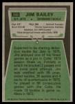 1975 Topps #398  Jim Bailey  Back Thumbnail