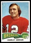 1975 Topps #295  Charley Johnson  Front Thumbnail