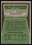 1975 Topps #320  Phil Villapiano  Back Thumbnail