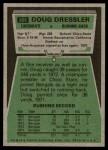 1975 Topps #366  Doug Dressler  Back Thumbnail