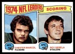 1975 Topps #4   -  Chester Marcol / Roy Gerela Scoring Leaders Front Thumbnail