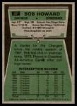 1975 Topps #37  Bob Howard  Back Thumbnail