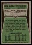 1975 Topps #50  Dan Pastorini  Back Thumbnail