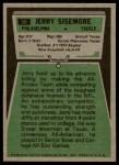 1975 Topps #56  Jerry Sisemore  Back Thumbnail
