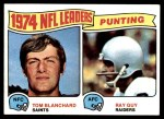 1975 Topps #6   -  Ray Guy / Tom Blanchard Punting Leaders     Front Thumbnail