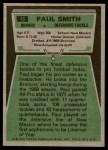 1975 Topps #45  Paul Smith  Back Thumbnail