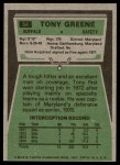 1975 Topps #54  Tony Greene  Back Thumbnail