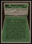 1975 Topps #72  Bob Young  Back Thumbnail