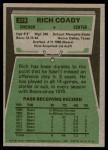 1975 Topps #319  Rich Coady  Back Thumbnail