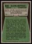 1975 Topps #385  Elvin Bethea  Back Thumbnail