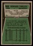 1975 Topps #128  Howard Twilley  Back Thumbnail