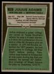1975 Topps #73  Julius Adams  Back Thumbnail