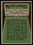1975 Topps #77  Mike Current  Back Thumbnail