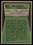 1975 Topps #398  Jim Bailey  Back Thumbnail