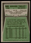 1975 Topps #128  Howard Twilley  Back Thumbnail