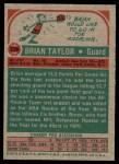 1973 Topps #226  Brian Taylor  Back Thumbnail
