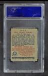 1949 Bowman PCL #36  Ora Burnett  Back Thumbnail