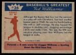 1959 Fleer #36   -  Ted Williams  Banner Year Back Thumbnail