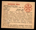 1950 Bowman #8  George Kell  Back Thumbnail