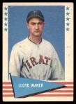 1961 Fleer #84  Lloyd Waner  Front Thumbnail
