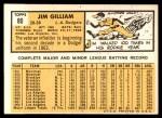 1963 Topps #80  Jim Gilliam  Back Thumbnail