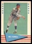 1961 Fleer #26  Wes Ferrell  Front Thumbnail