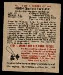 1948 Bowman #13  Hugh Taylor  Back Thumbnail