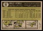 1961 Topps #96  Billy O'Dell  Back Thumbnail