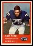 1963 Fleer #29  Ken Rice  Front Thumbnail