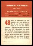 1963 Fleer #48  Abner Haynes  Back Thumbnail