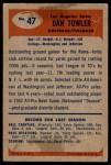 1955 Bowman #47  Dan Towler  Back Thumbnail