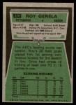 1975 Topps #370  Roy Gerela  Back Thumbnail