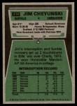 1975 Topps #414  Jim Cheyunski  Back Thumbnail