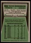 1975 Topps #46  Dave Robinson  Back Thumbnail
