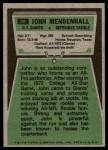 1975 Topps #29  John Mendenhall  Back Thumbnail