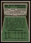 1975 Topps #94  Billy Newsome  Back Thumbnail